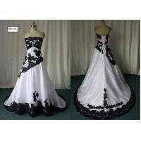 Buy cheap Custom Handmade White Color Bateau Neckline Fashion Ball Gown Empire Prom Dress from wholesalers