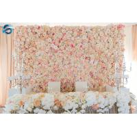 Buy cheap Durable Plastic Artificial Flower Wall Corrosion Resistance Customized Size from wholesalers