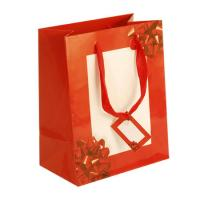 Buy cheap Embossed, UV, Glitter, Tipon Coated Printing Red Paper Gift / Shopping / Clothing Bags with Handles from wholesalers