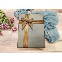 Buy cheap Brown Cardboard Gift Boxes With Ribbon Bowknot , Cardboard Decorative Boxes from wholesalers