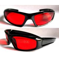 Buy cheap Red lens and black frame Scratches Resistant Laser Safety Glasses for laser alignment from wholesalers