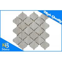 Buy cheap Wooden Grey Polished Marble Mosaic Tiles Lantern Shape , 10mm Bathroom Wall Tiles from wholesalers