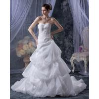 Buy cheap Sexy tulle Lace Flower Girls layered Wedding Dresses Gowns with chapel train , white from wholesalers