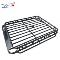 Buy cheap Toyota Prado Roof Rack Cage Basket, E009 32mm Iron Tube Cargo Carrier Basket from wholesalers