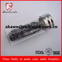 Buy cheap biodegradable bamboo charcoal dental floss eco-friendly new dental product from wholesalers