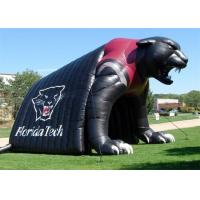 Buy cheap Newest Design Black Bear Inflatable Steamer Engine Sport Tunnel Tent / Inflatable Train Tunnel from wholesalers