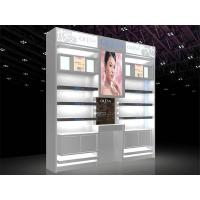 Buy cheap LED Light Cosmetic Display Shelves Cosmetic Store Fixtures With Stoving Varnish Surface from wholesalers