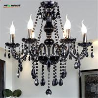 Buy cheap New Modern Black crytal chandeliers lighting for Livingroom Bedroom indoor lamp K9 crystal lustres de teto chandelier from wholesalers