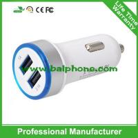 Most popular products round plug 3.1A double mini usb car charger