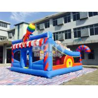 Buy cheap 6 * 5.7 * 4.3m Inflatable Bouncy Castle Children Amusement With Sport Elements from wholesalers