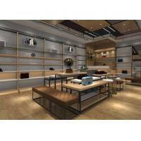Buy cheap Wood And Metal Retail Store Shoe Display Fixtures With Tables , Stands , Cabinets from wholesalers