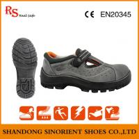 Buy cheap Top quality breathable Suede leather steel toe summer safety shoes ,Made in china Ce certificate sandal safety shoes , from wholesalers