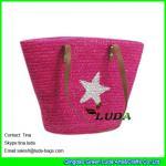 Buy cheap LUDA nicole lee handbags star Straw Summer Beach Sea Shoulder Bag Handbag Tote from wholesalers