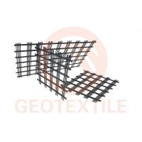 Buy cheap 3.95m High Strength Polyester Geogrid 100m Length Environment Friendly product