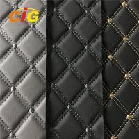 Buy cheap High Quality Car Seat Car Floor Embroidery PVC leather with High Density Foam product