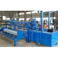 Buy cheap Fully Automatic Chain Link Fence Machine / PVC Coated Galvanized Fence Making Equipment product