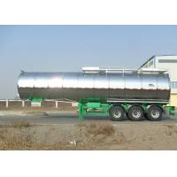 Buy cheap Carbon Steel Insulated Tanker Trailers , Tri Axle Palm Oil Tank Semi Trailer from wholesalers