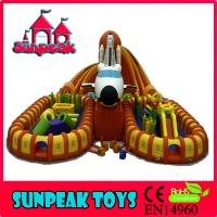 Buy cheap PG-180 Airplane Outdoor Playground Inflatable Fun Center from wholesalers