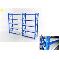 Buy cheap Customizable Domestic Medium Duty Steel Rack With Wheels Butterfly Holes from wholesalers
