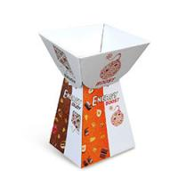 Buy cheap Single Color Gloosy Lamination Candy Cardboard Counter Display Rack Stand from wholesalers