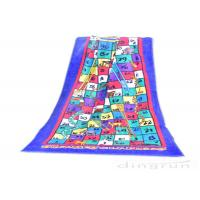 Buy cheap Reactive Large Snakes And Ladders Game Beach Towel Printing 400gsm from wholesalers