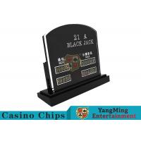 Buy cheap Blackjack Casino Table Games LED Electronic Bet Limit Sign With Customized Style from wholesalers