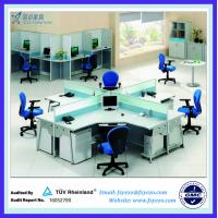 Buy cheap L Shape Office Partition office Workstation With Steel Leg from wholesalers