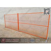 Buy cheap 6ft X9.5'  Orange Color Movable Temporary Mesh Fencing | China Movable Temporary Fence Factory from wholesalers