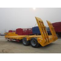 Buy cheap SKD Type Low Bed Trailer Truck , Gooseneck Flatbed Lowboy Trailers For Machine Transportaion from wholesalers