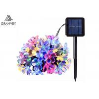 Buy cheap 50LED Solar Powered Outdoor String Lights , Waterproof Solar Christmas Lights Cherry Floral Decoration from wholesalers
