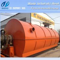 Buy cheap Capacity 10ton D2200*L6600mm recycle plastic to oil machine from wholesalers