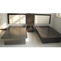 Buy cheap Black Hotel Style Bedroom Furniture , Inn Furniture Double Beds With Headboard from Wholesalers