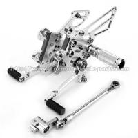 Buy cheap Silver / Black Motorcycle Rear Sets Deeply Knurled Brake Pedal Treatment from wholesalers
