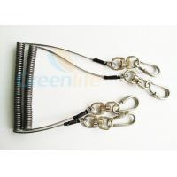 Buy cheap Steel Spring Coil Tool Lanyard With 8 Shape Swivel / Stainless Carabiner product