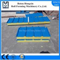 Buy cheap ISO Mineral Wool Sandwich Panel Line , Efficient Continuous Sandwich Panel Line from wholesalers