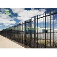 China Black Spear Top Fencing With 17pcs Pickets , Powder Coating Spear Top Gate on sale