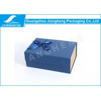 Buy cheap Magnetic Closure Bowknot Special Blue Paper Folding Packaging Boxes Customized from wholesalers