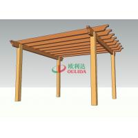 Antisepsis Custom Wood Plastic Composite Pergola Fire Resistance 4m * 4m * 2.66m