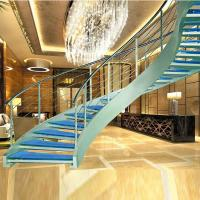 Buy cheap Luxury curved glass staircase for sale product