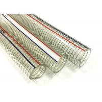 Buy cheap Non Toxic PVC Steel Wire Hose Flexible Transparent Hose / Pipe ROHS Approved from wholesalers