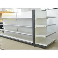 Heavy Duty Steel Gondola Shelving Two Bars Free Price Holders 2.2mm Brackets