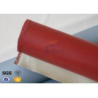 Buy cheap 1000 Degrees Red Coating High Silica Fabric Thin Fiberglass Cloth 700gsm from wholesalers