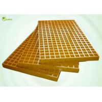 Buy cheap Fiber Walkway Drain Trench Molded Grating Sheet GRP Mesh Grid Platform from wholesalers