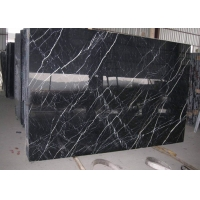 Buy cheap Nero Margiua Cultured Black 10mm 24x24 Marble Floor Tile from wholesalers