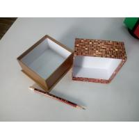 Buy cheap Luxurious golden colored shiny mosaic paper gift box -Factory direct bottom price from wholesalers