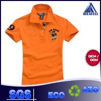 Buy cheap Short Sleeve Mens Patterned Polo Shirts With 92% Polyester 8% Spandex from wholesalers
