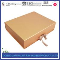 China Ribbon Closure Folding Gift Box , Cardboard Gift Boxes Huge Capacity For Apparel on sale