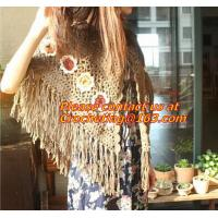 Buy cheap Mexican print knitted open poncho with roll neck, Green Free Knitting Crochet Woman from wholesalers