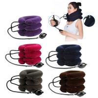 Buy cheap Comfortable Heated Neck Massager Inflatable Collar Suede Material For Neck Pain Relief from wholesalers