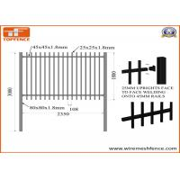 China 2.1m X2.4m Spear Top Security Steel Fence/ Steel Fencing on sale